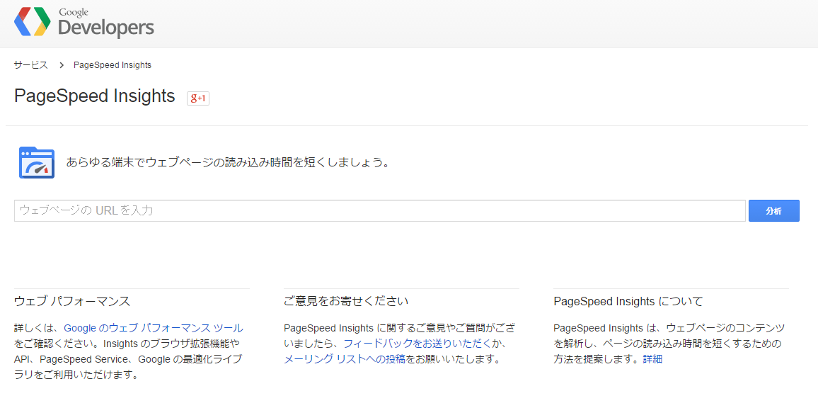 Google PageSpeed Insightsキャプチャ