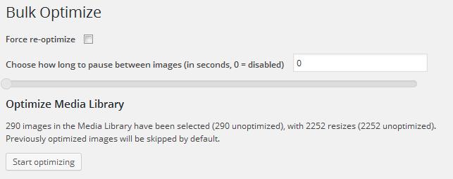 EWWW Image Optimizer実行画面