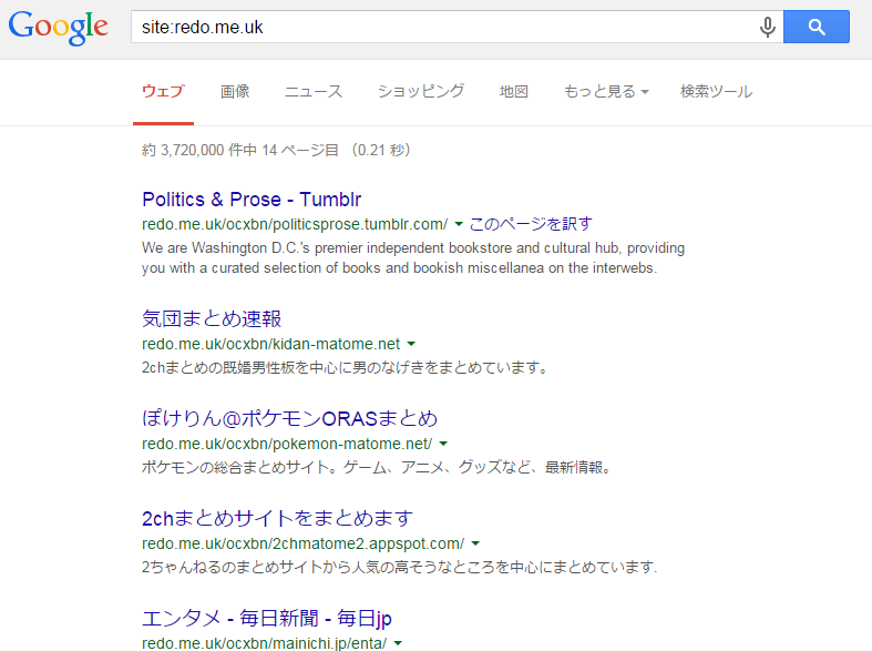 redo.me.ukのインデックス状況
