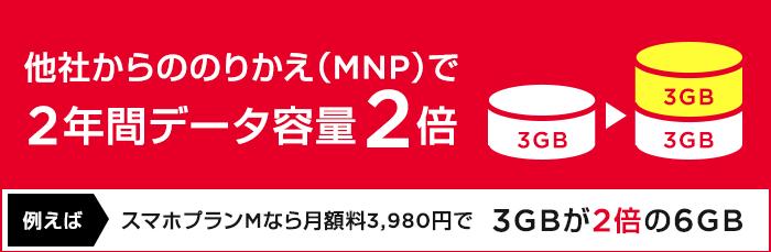 ワイモバイルデータ容量2倍キャンペーン