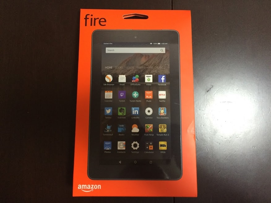 Fireタブレット8GB箱外観写真