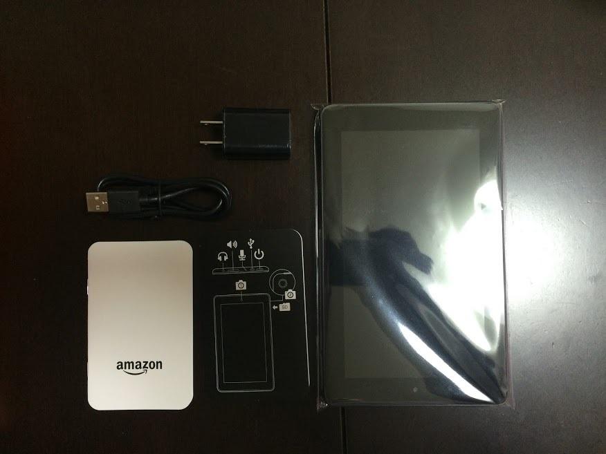 Fireタブレット8GB内容物