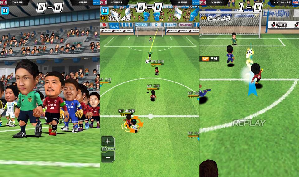 激突!! Jリーグ プニコンサッカー プレイ画像