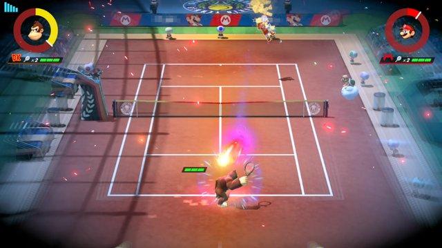 マリオテニス エース プレイ画面