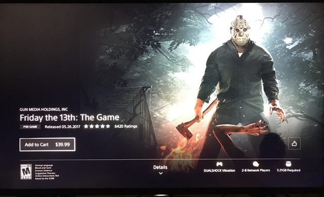 Friday the 13th the game 北米PSストア