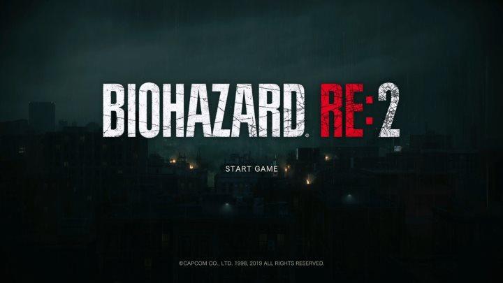 BIOHAZARD RE:2 タイトル画面
