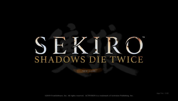 SEKIRO: SHADOWS DIE TWICE タイトル画面