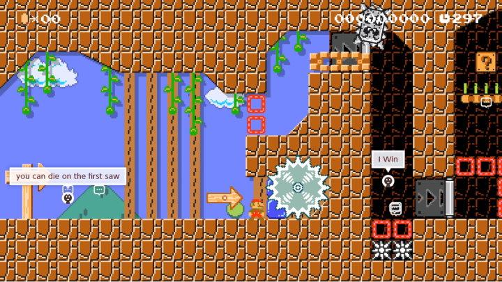 スーパーマリオメーカー2 プレイ画面
