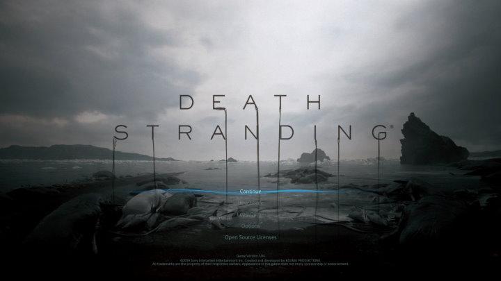 DEATH STRANDING タイトル画面