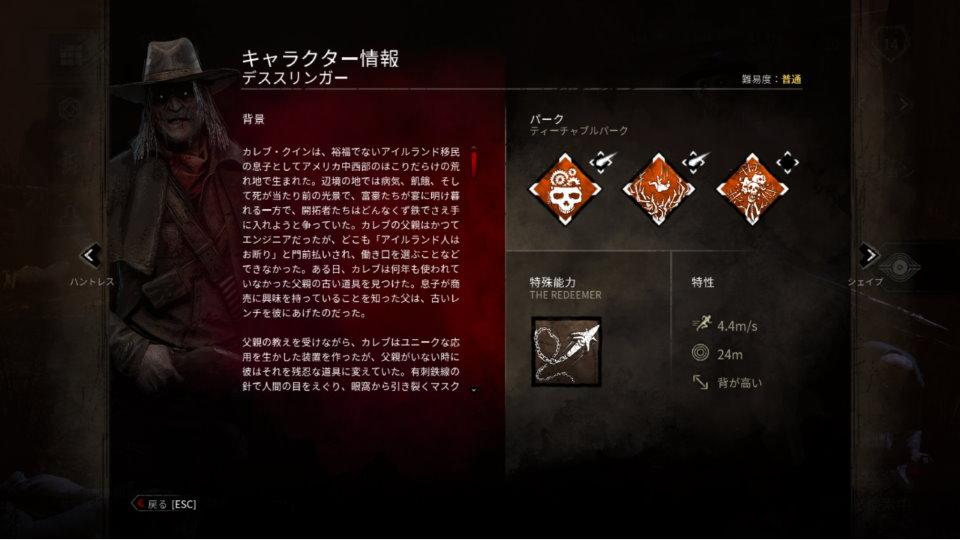 デススリンガー キャラクター情報