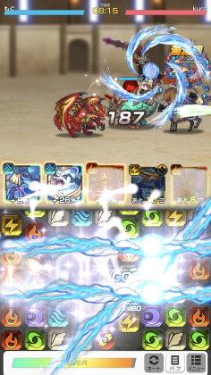 ドラゴンスマッシュ バトル画面