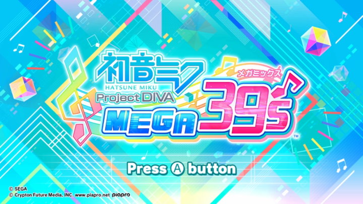 初音ミク Project DIVA MEGA39's タイトル画面