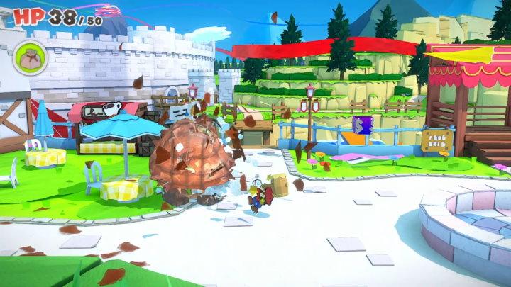 ペーパーマリオ オリガミキング キノピオ王国フィールド