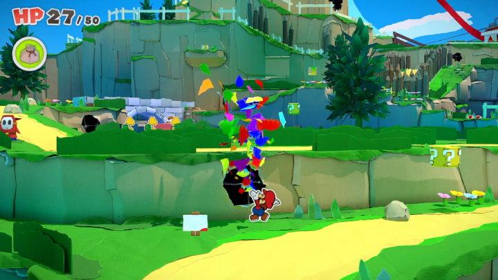 ペーパーマリオ オリガミキング フィールド画面
