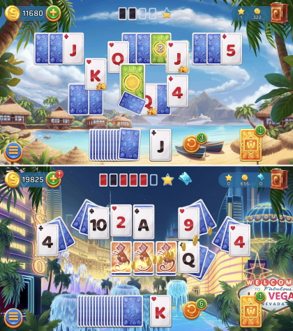 Solitaire Cruise ゲームシーン