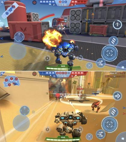 Mech Arena : Robot Showdown 戦闘シーン
